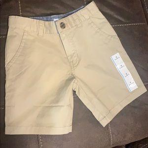 Boys khaki shorts size 6